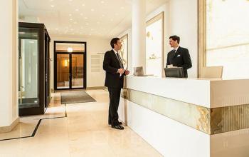 Exklusiver Lobbybereich in der Büroimmobilie in München Altstadt