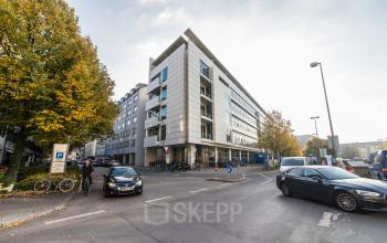 Impressive exterior view of the office building in Munich Maxvorstadt