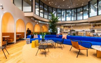 Stylish Business Lounge in the office building in Munich