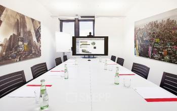 Büro mieten im Business Center am Konrad-Zuse-Platz in Riem mit modernem Besprechungsraum