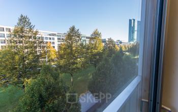 Impressive view from the business center in Munich, Lyonel-Feininger-Straße