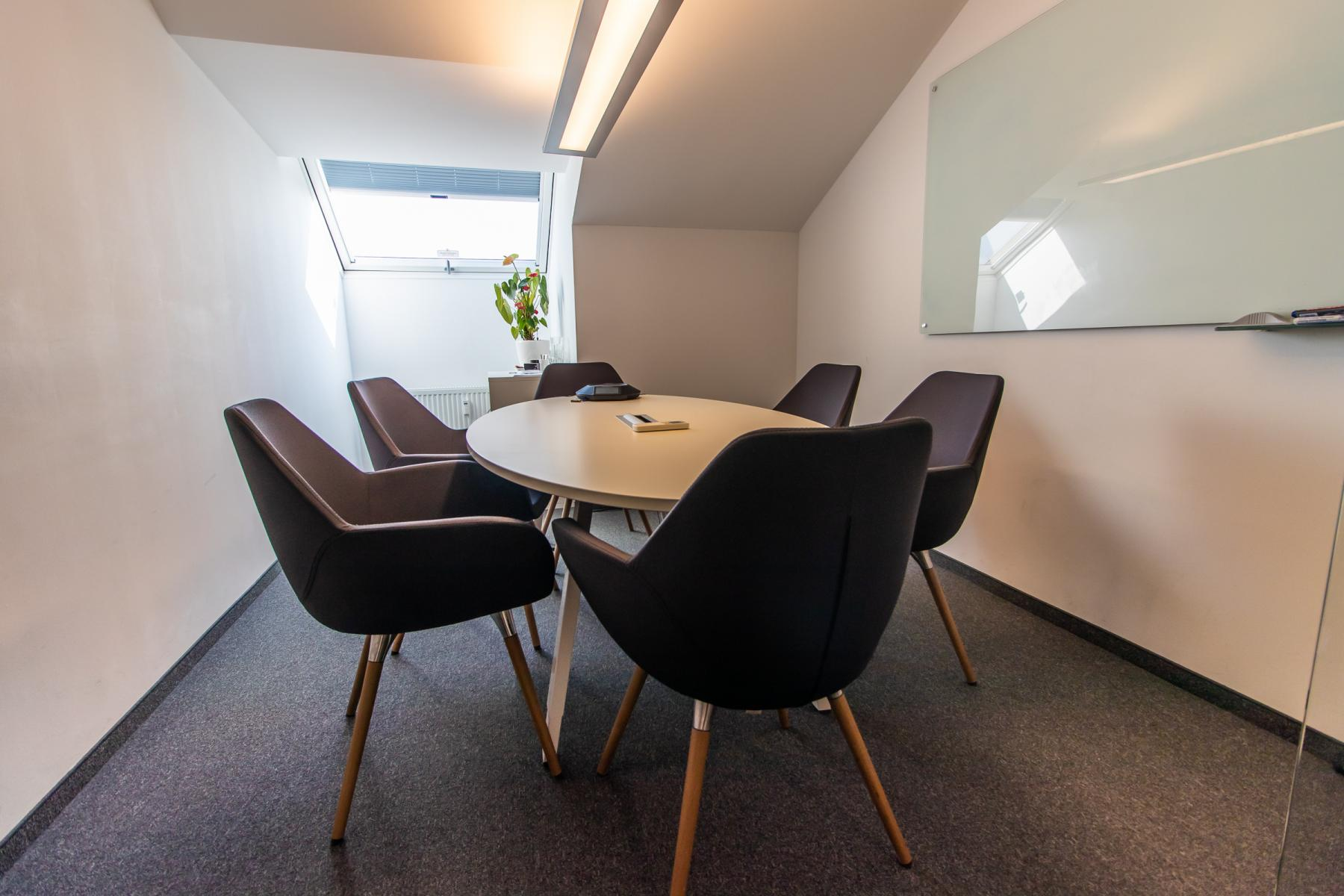 Modern common room in the business center in Munich, Viktualienmarkt