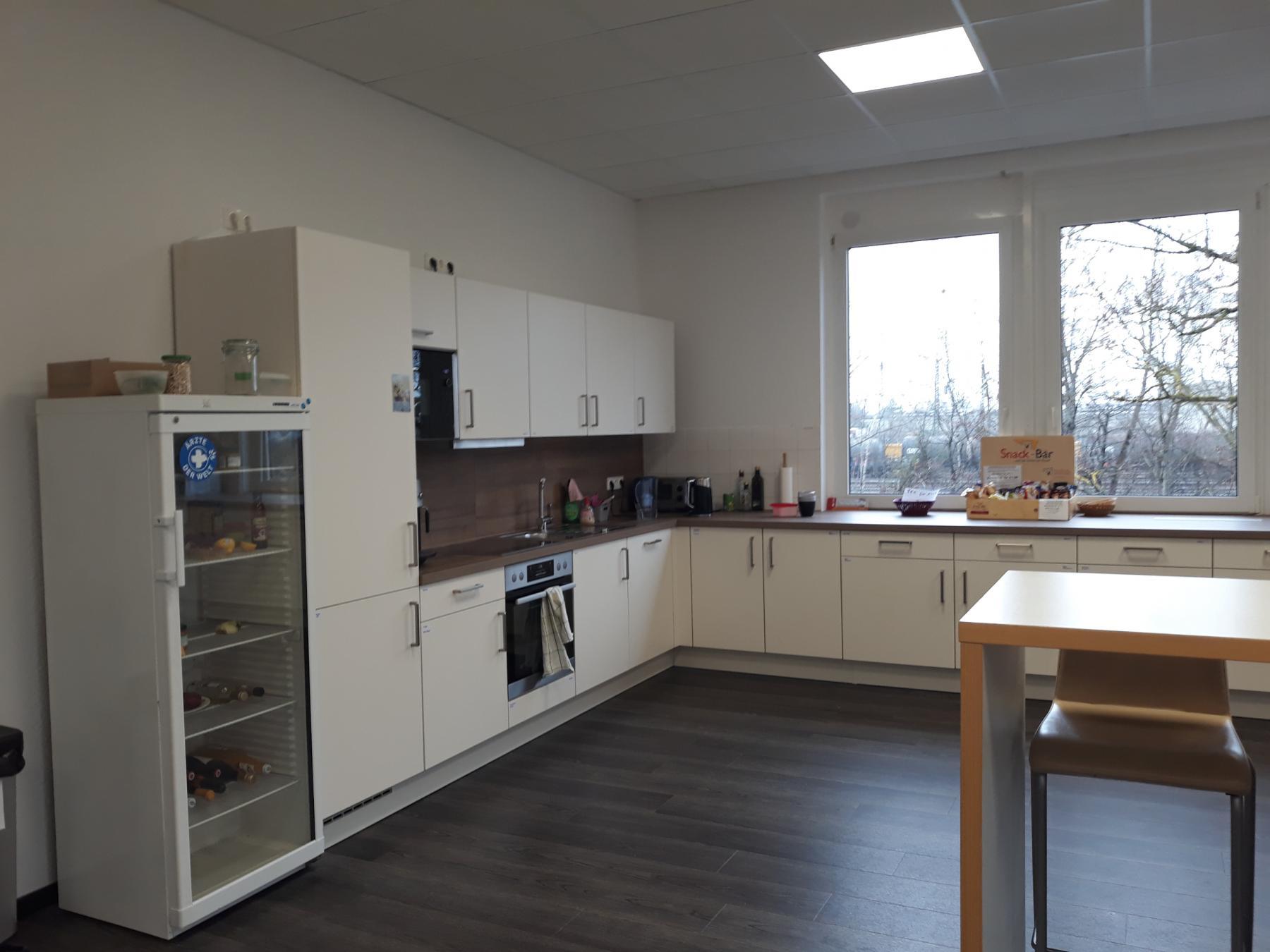 Voll ausgestattete Gemeinschaftsküche im Business Center in München Landsberger Straße