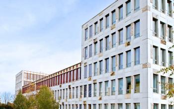 Attraktive Außenansicht vom Business Center in München Sendling, Radlkoferstraße