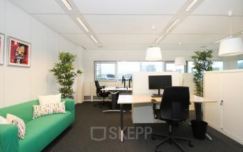 Binnenzijde kantoorruimte bank werkplek Amsterdam