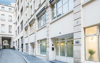Entrée centre d'affaires dans la Rue Taylor