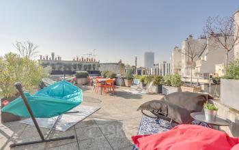 Toit terrasse sur lequel vous pourrez organiser un afterwork au boulevard Gouvion Saint-Cyr