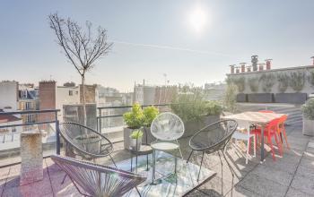 Rooftop pour se reposer lors d'une pause bien méritée au boulevard Gouvion Saint-Cyr