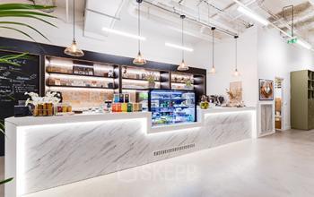 Corner café avec barista disponible dans notre centre d'affaires dans la Rue Réaumur