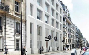 Vue d'extérieur centre d'affaires à la rue de Londres