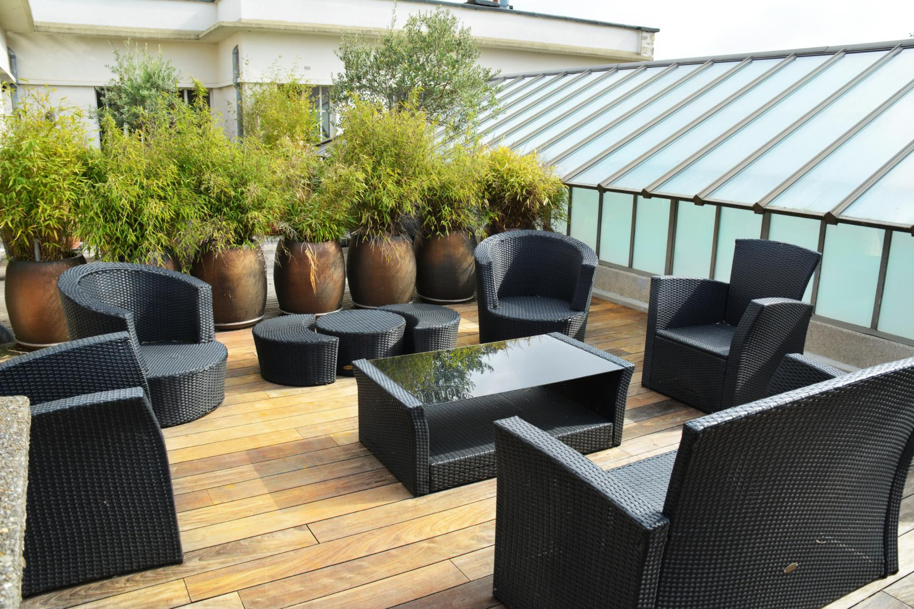 A furnished and plant-decorated terrace is one of the favourite places among the members of our community