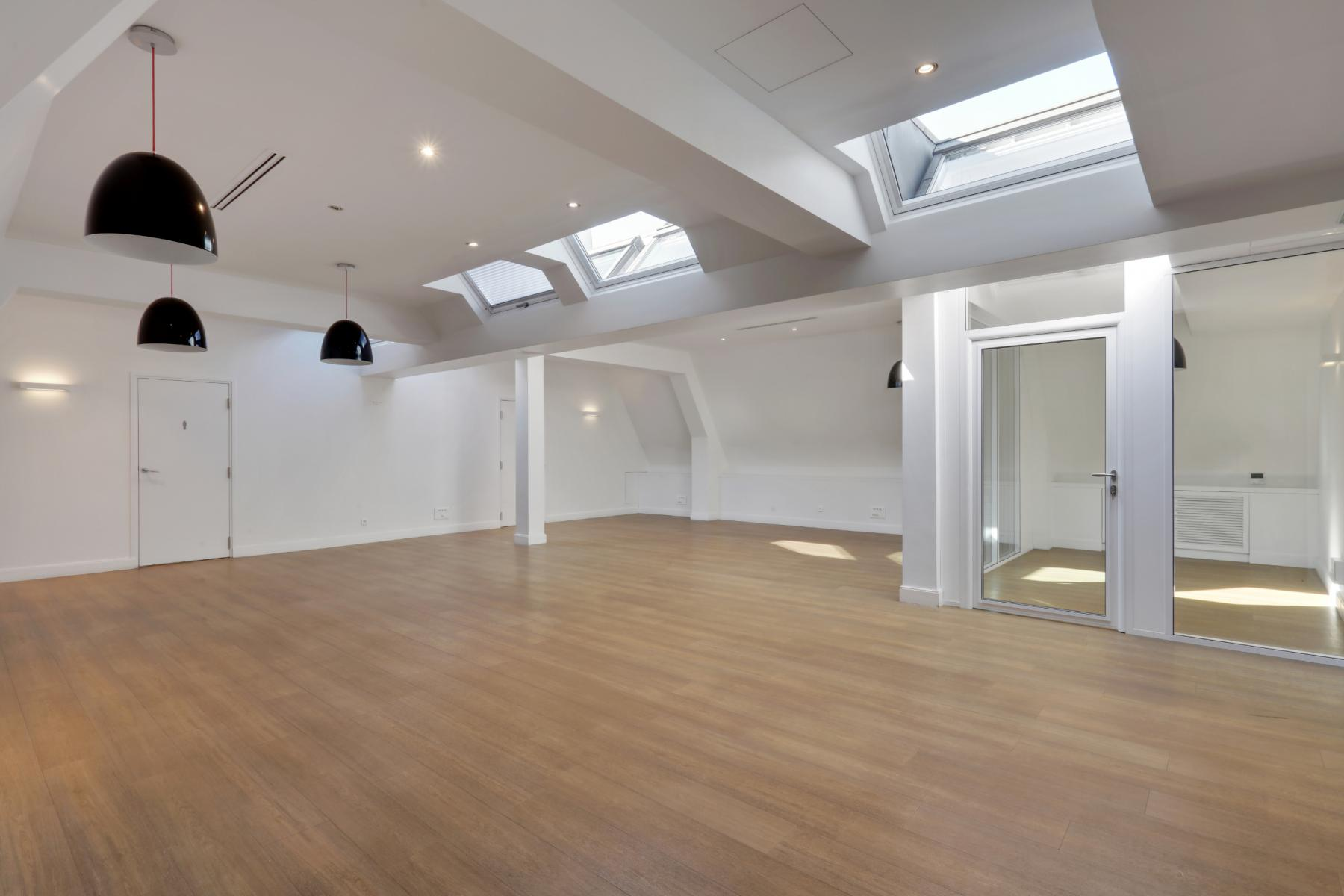 This spacious office space could accommodate your team