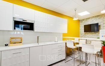 Notre cuisine est l'endroit idéal pour prendre un café avec vos collègues dans la rue de la Haye