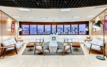 Cet espace commun est l'endroit idéal pour de belles rencontres professionnelles à l'avenue Georges Wilson