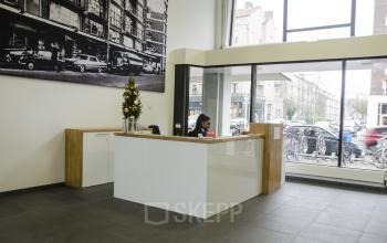 check-in desk windows reception bright