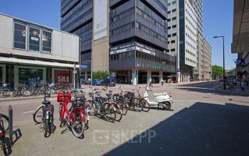 kantoorpand huren in centrum rotterdam met fietsenstalling