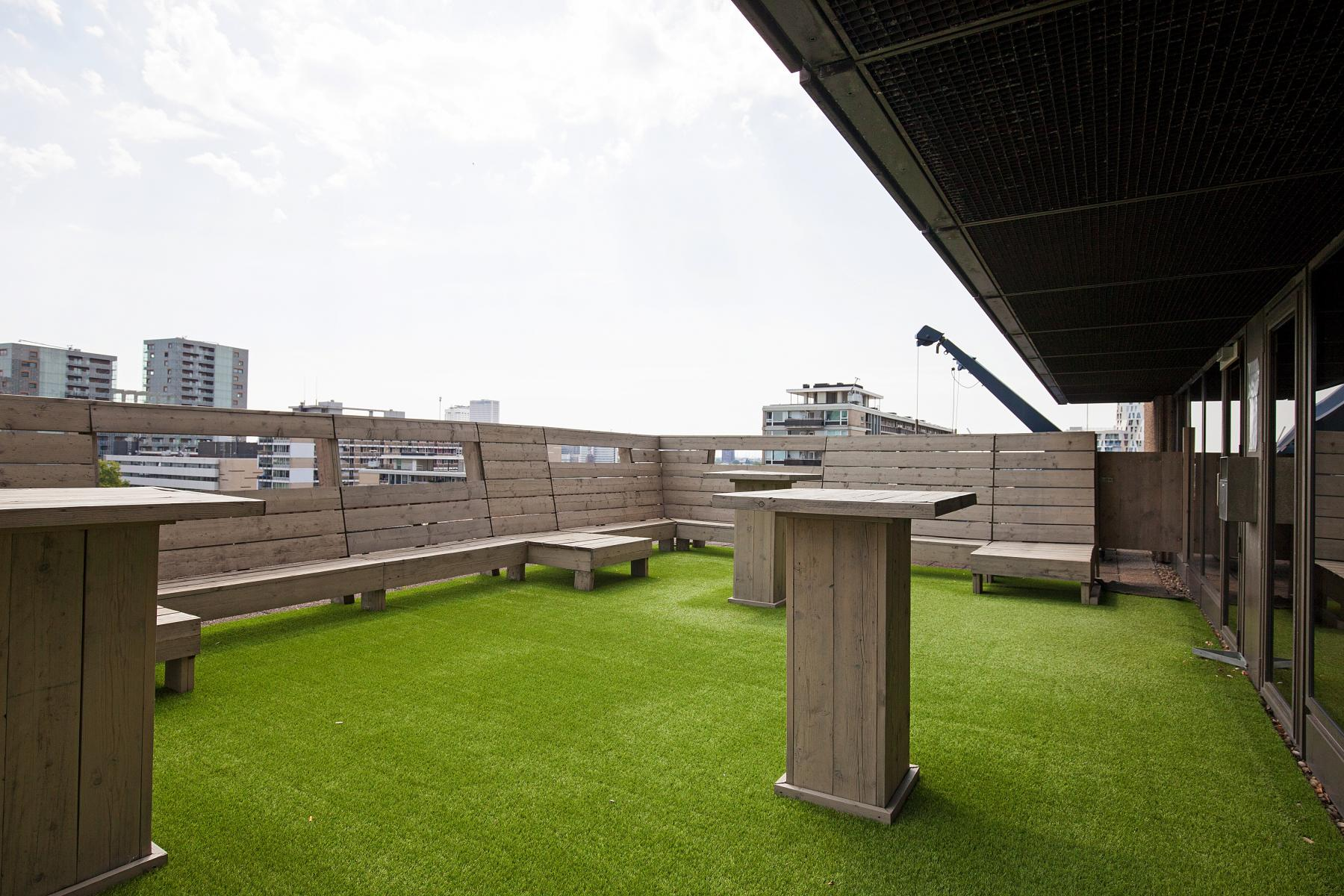 werkplek huren in centrum rotterdam met dakterras