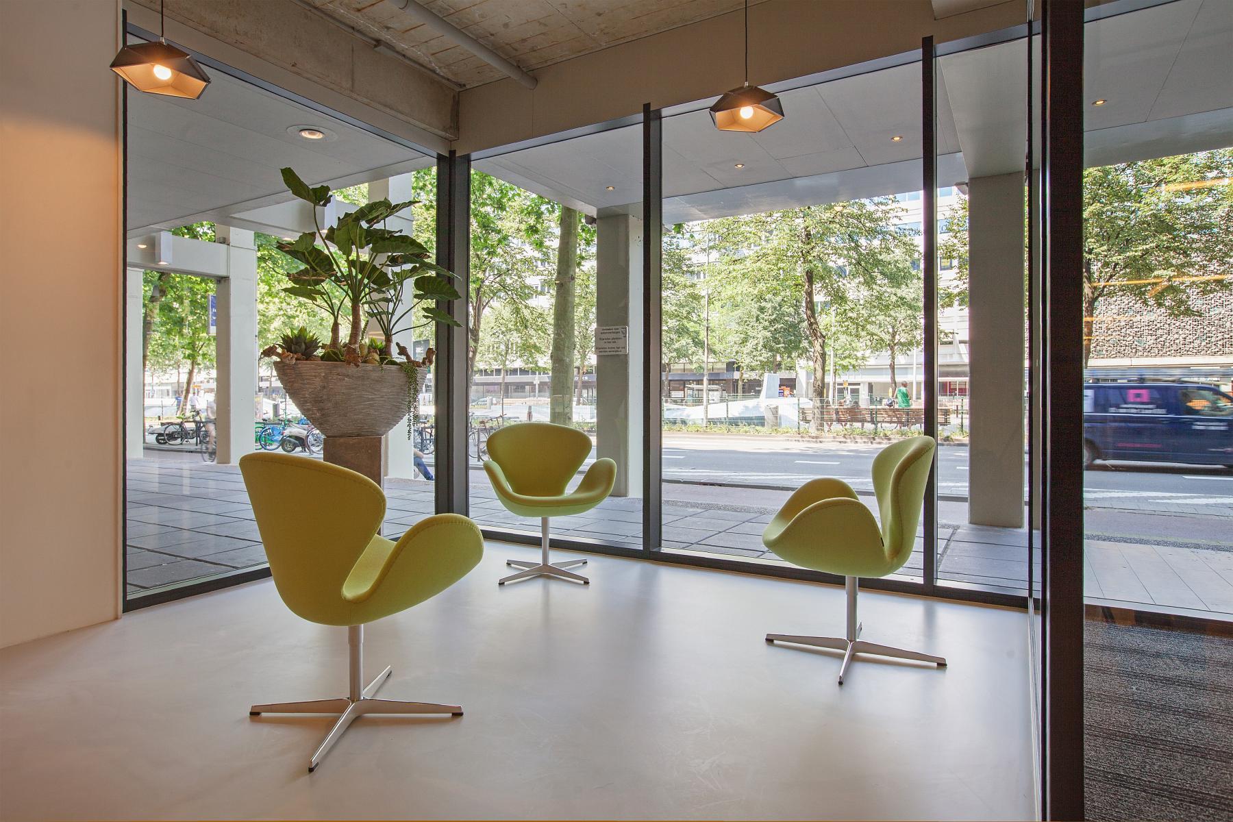 kantoorunits huren in centrum van rotterdam met lounge