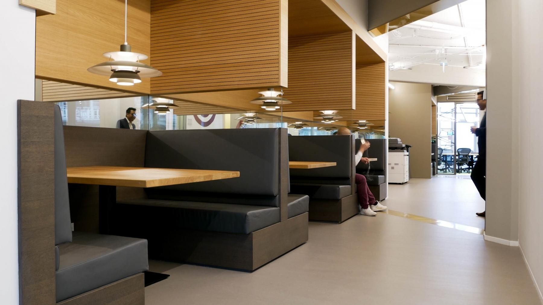informal working space couches tables