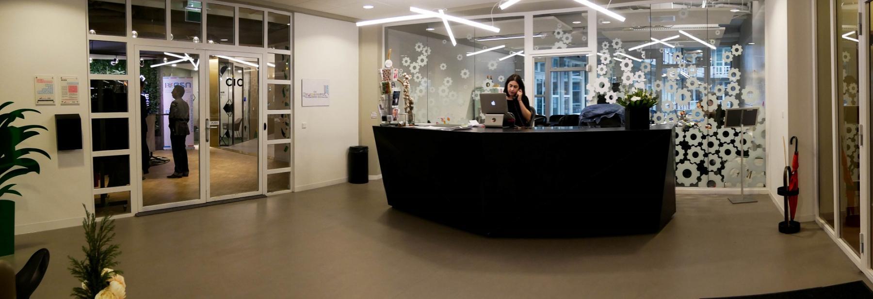 reception people open space employee
