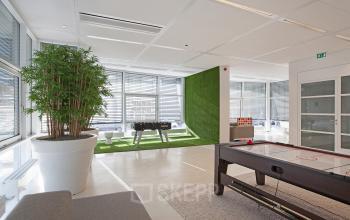 voetbaltafel pooltafel loungeruimte kantoorpand Amsterdam