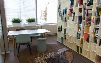 Calm reading area within the office