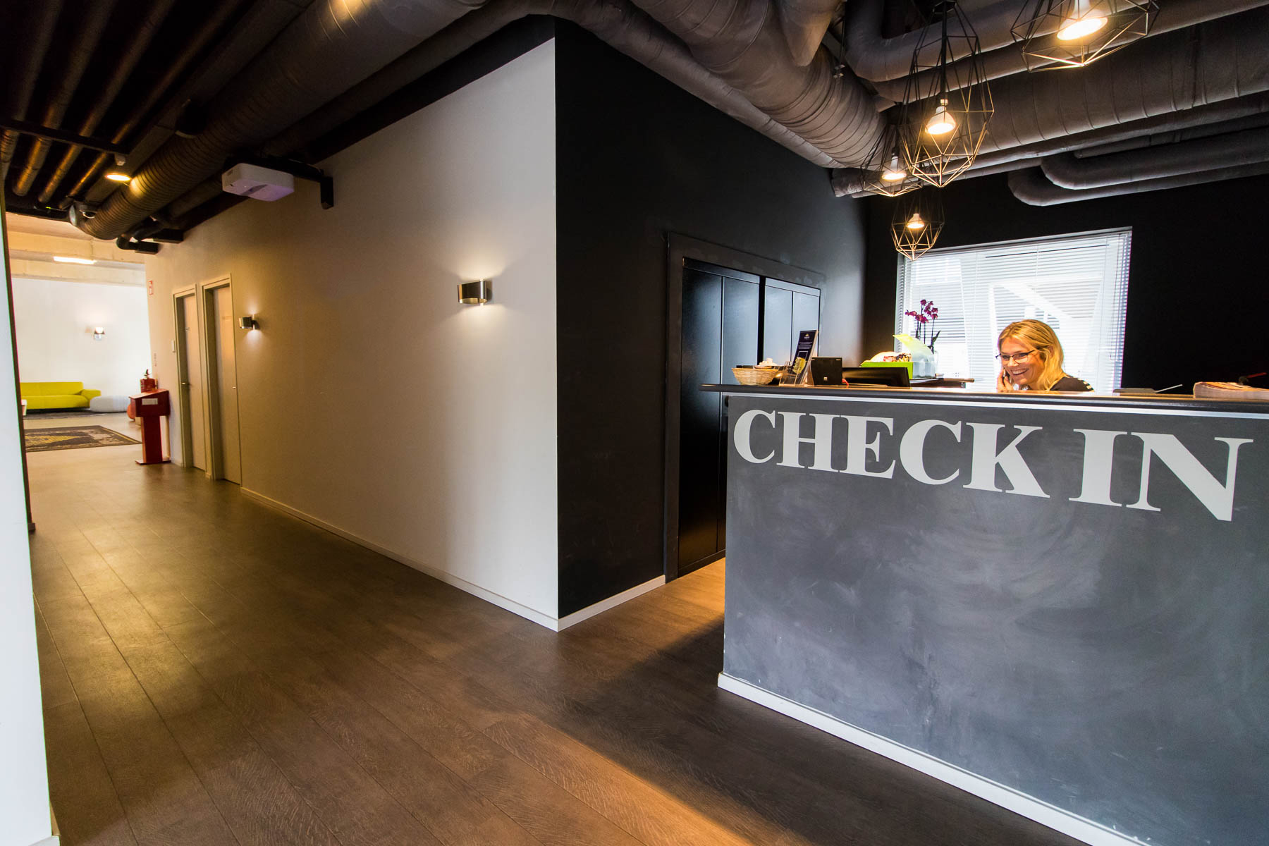 Reception during working hours