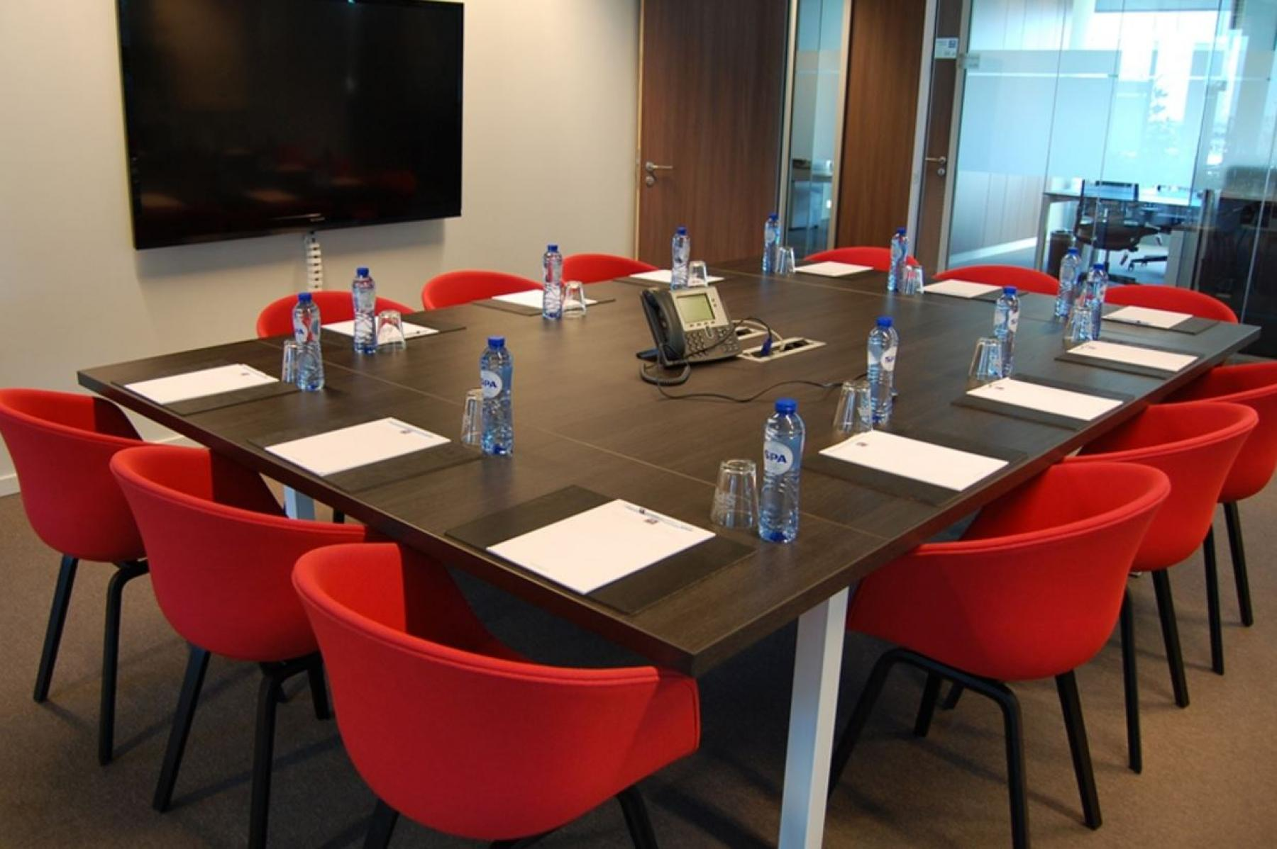 the big meeting room in the building