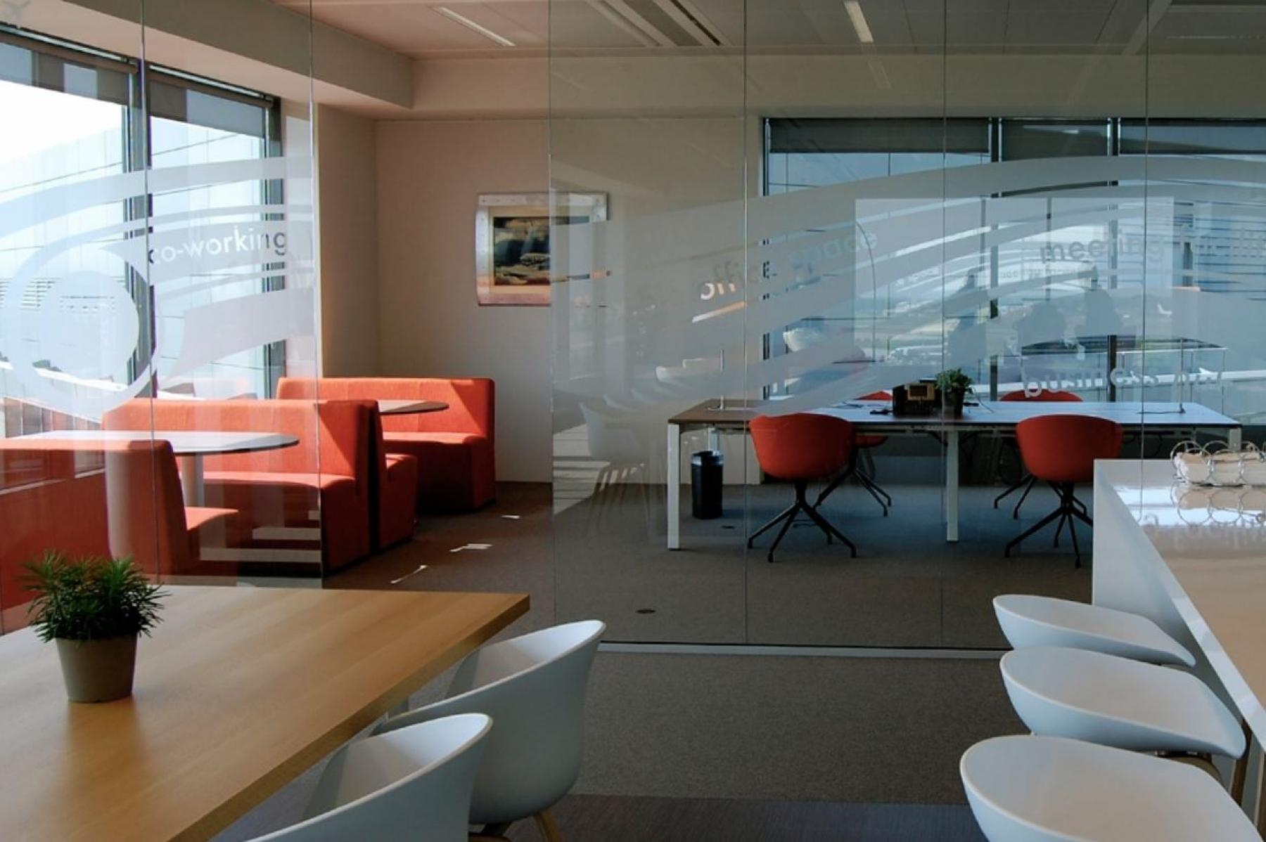 the present co-working space in the office