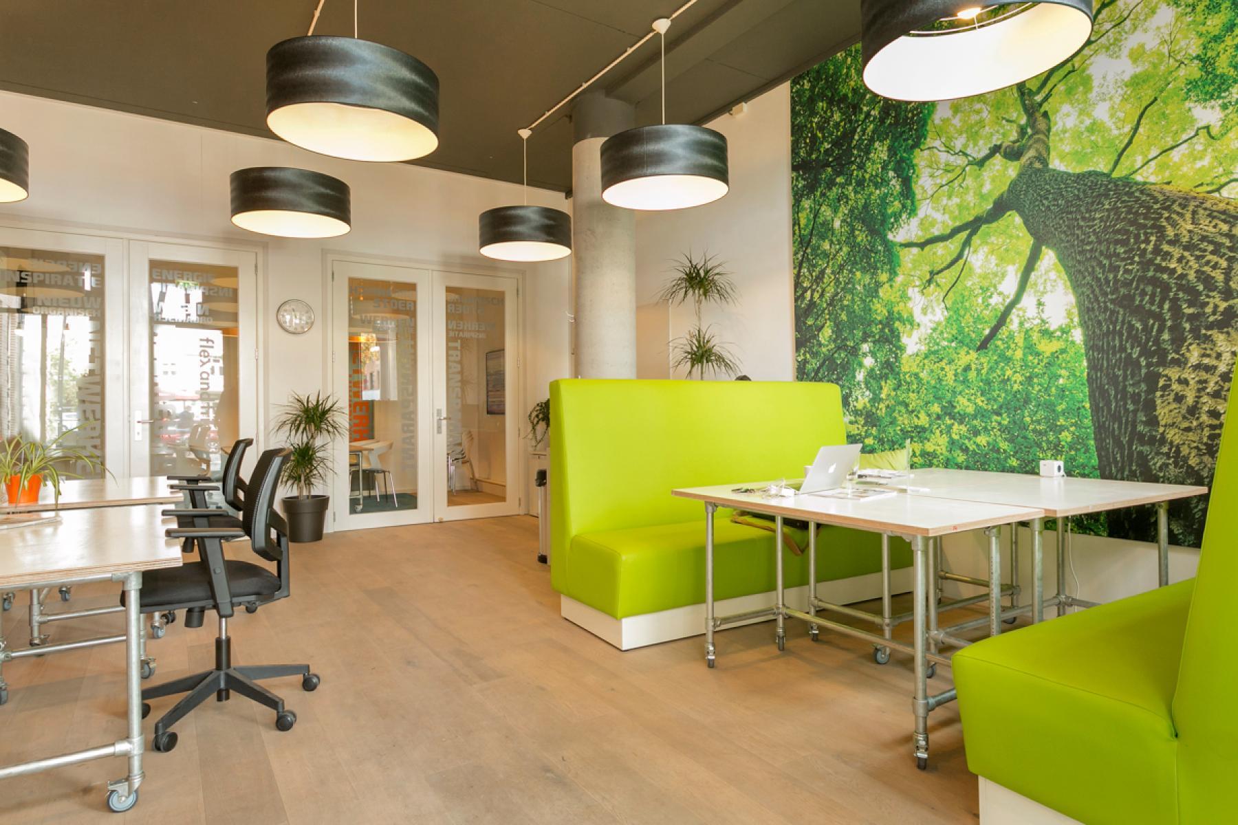 flexwerkplekken loungeplekken loungemogelijkheden lunchmogelijkheden kantoorgebouw zeist