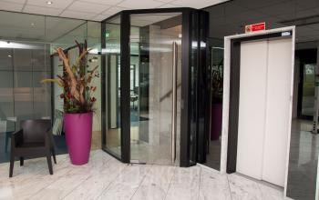 Entrance of the elevator