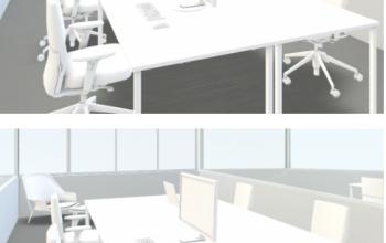 Visualisierung Privatbüros zur Miete in Zürich City