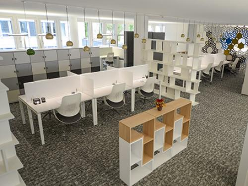 Helles Büro mieten in dem Bürogebäude in Zürich-Seebach