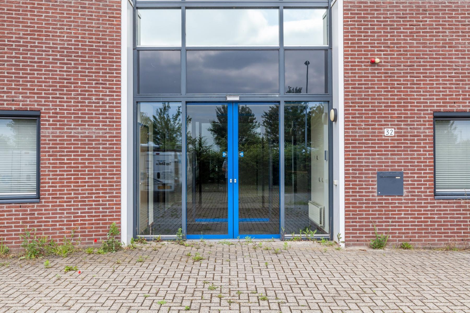 doors blue entrance office building zutphen