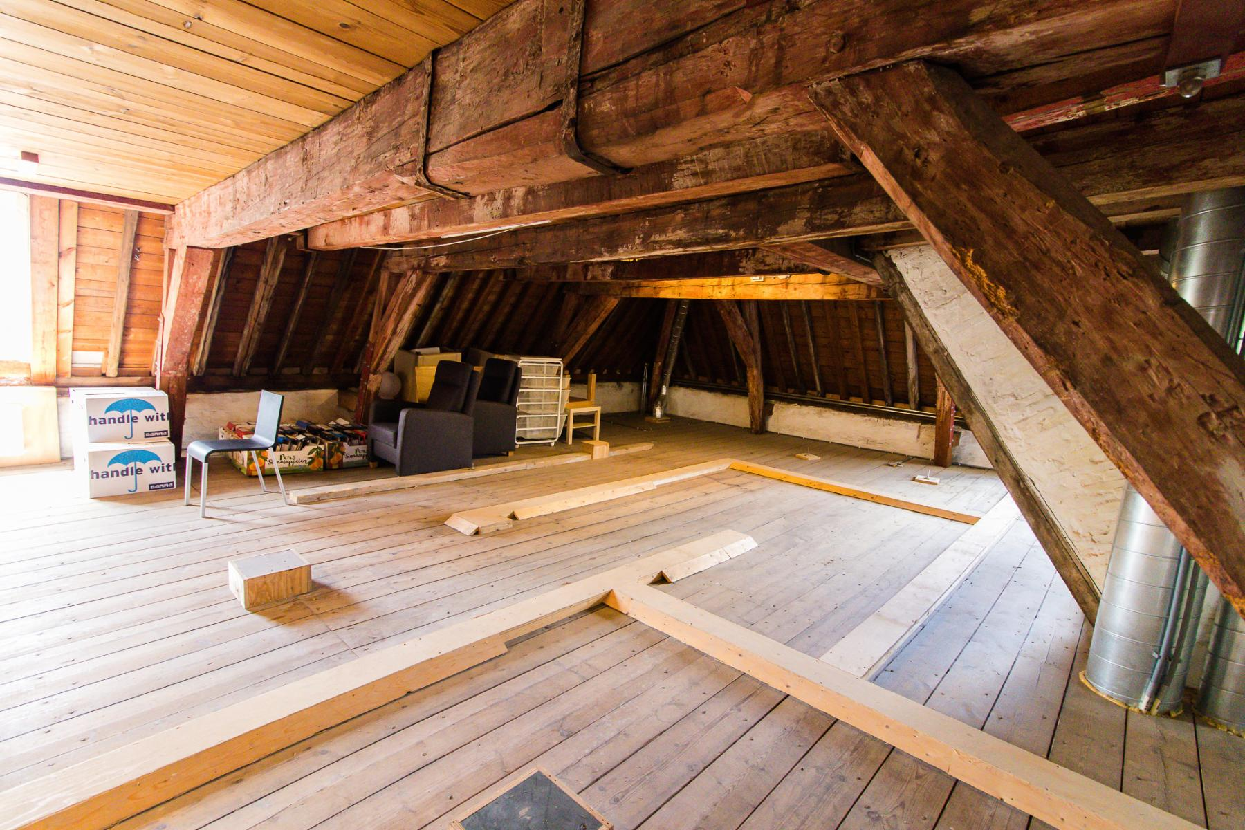 Storage room in the attic