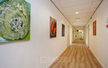 gangpad schilderijen parket kantoor zwolle willemsvaart